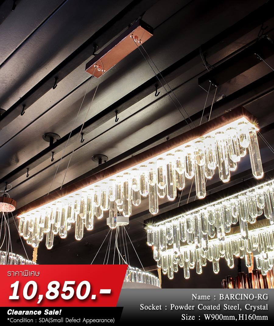 โคมไฟระย้า โคมไฟคริสตัล CRYSTAL โคมไฟแชนเดอเรีย Chandelier BARCINO-RG