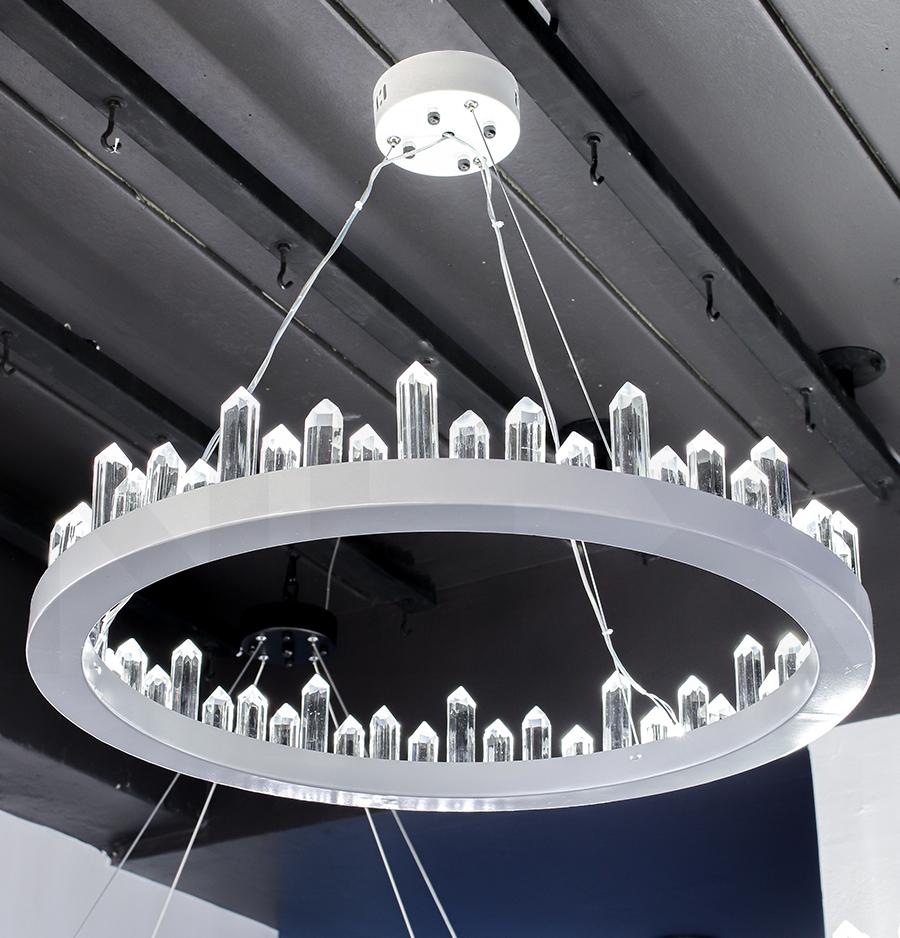 โคมไฟระย้า โคมไฟคริสตัล CRYSTAL โคมไฟแชนเดอเรีย Chandelier CIRCINO-600-WH