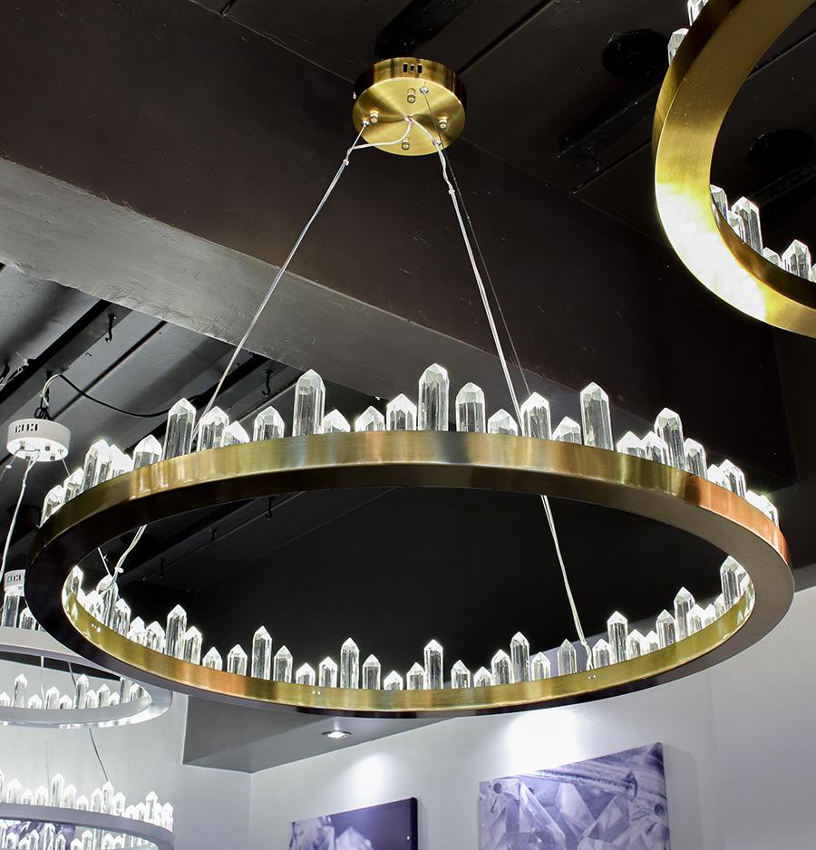 โคมไฟระย้า โคมไฟคริสตัล CRYSTAL โคมไฟแชนเดอเรีย Chandelier CIRCINO-800-GD