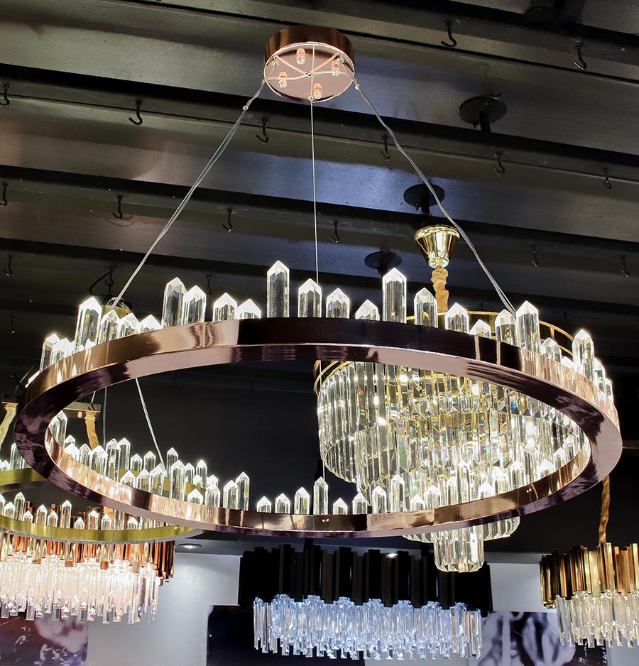 โคมไฟระย้า โคมไฟคริสตัล CRYSTAL โคมไฟแชนเดอเรีย Chandelier CIRCINO-800-RG