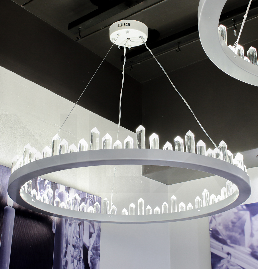 โคมไฟระย้า โคมไฟคริสตัล CRYSTAL โคมไฟแชนเดอเรีย Chandelier CIRCINO-800-WH