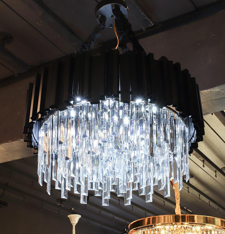 โคมไฟระย้า โคมไฟคริสตัล CRYSTAL โคมไฟแชนเดอเรีย Chandelier MARTEL-550-BK