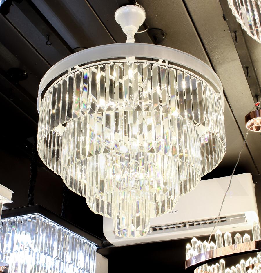 โคมไฟระย้า โคมไฟคริสตัล CRYSTAL โคมไฟแชนเดอเรีย Chandelier VERENA-600-WH