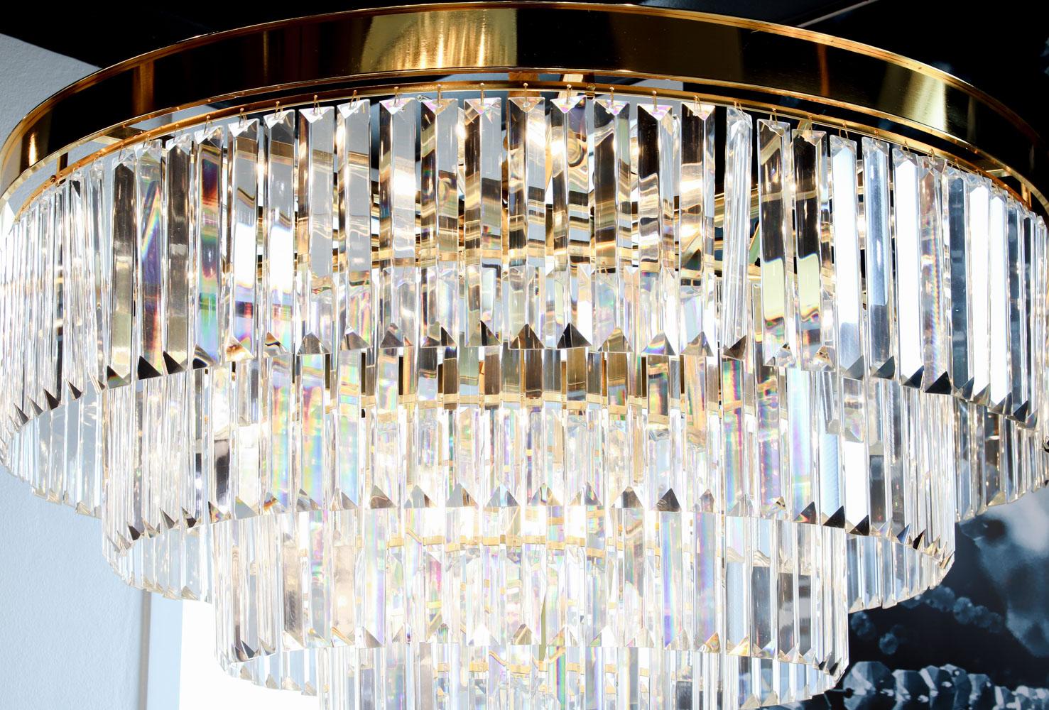โคมไฟระย้า โคมไฟคริสตัล CRYSTAL โคมไฟแชนเดอเรีย Chandelier VERENA-800-GD