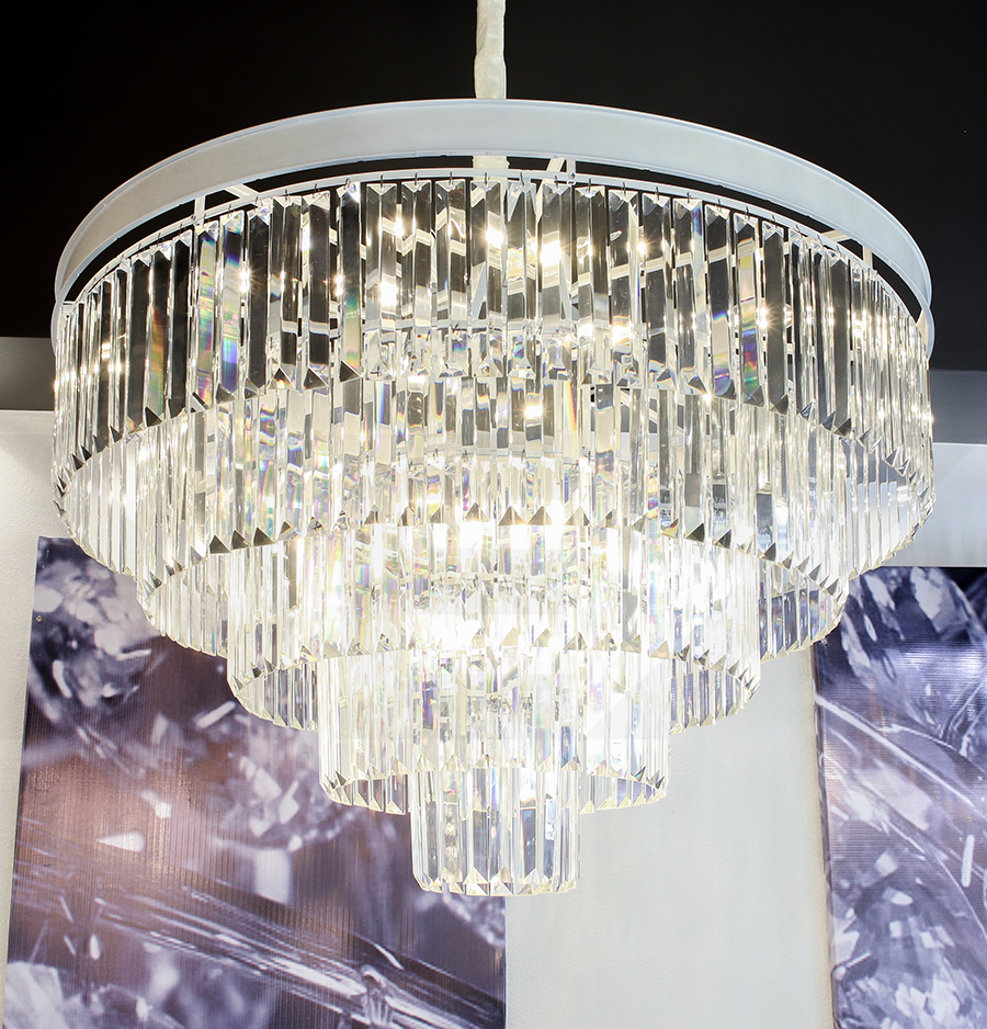 โคมไฟระย้า โคมไฟคริสตัล CRYSTAL โคมไฟแชนเดอเรีย Chandelier VERENA-800-WH